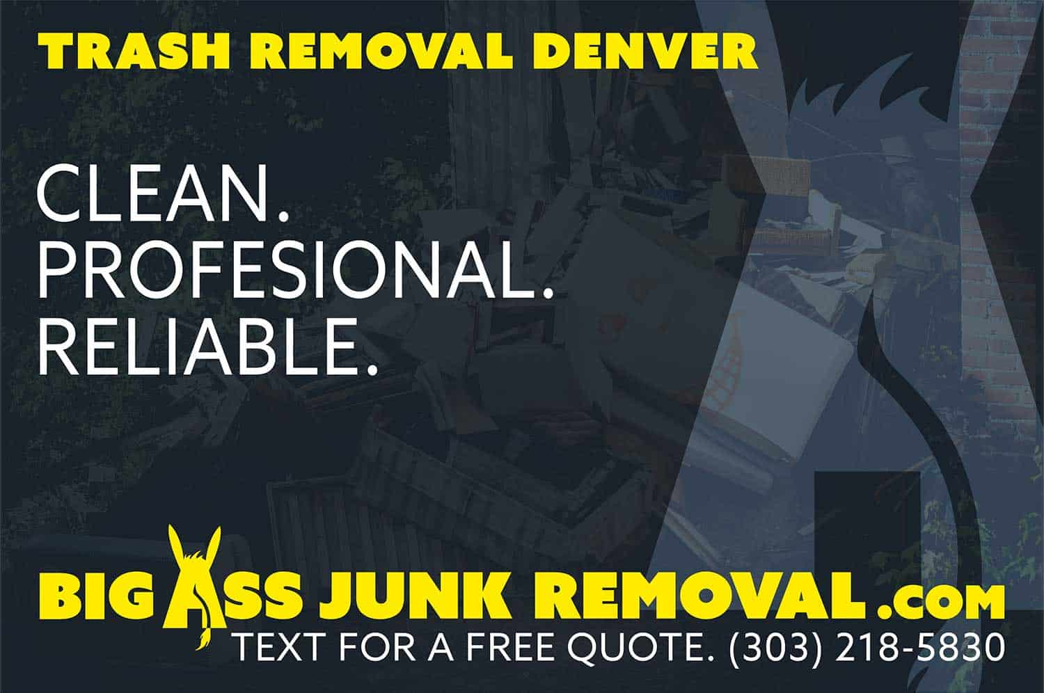 same day junk & trash removal | big ass junk removal | denver